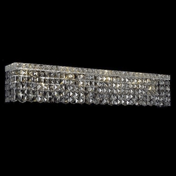 Elegant 2033W36C-SS-RC Maxim Large 8-light Silver Shade Crystal Lighting for Bathroom