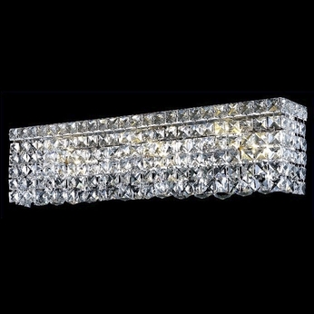 Elegant 2033W18C-RC Maxim 18  Mini Clear Crystal Vanity Light Fixture