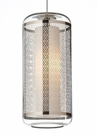 Tech Ecran Mini Platinum Lattice Pattern 9 Inch Tall Hanging Lamp