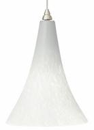 Tech Melrose White Frit Glass 7 Inch Diameter Mini Drop Lighting