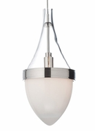Tech Parfum Clear & White Glass 9 Inch Tall Mini Pendant Lighting
