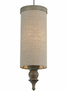 Tech Weston 5 Inch Diameter Sand Fabric Mini Low Voltage Pendant Lighting