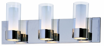 Maxim 23073CLFTPC Silo Medium 3-lamp Chrome Modern Bathroom Lighting