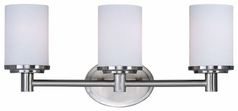 Maxim 9053SWSN Cylinder 3-light Bathroom Vanity Lighting in Satin Nickel