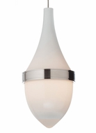 Tech Parfum 9 Inch Tall White Glass Contemporary Pendant Lighting Fixture