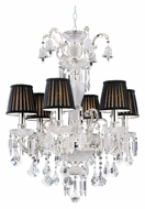 Trans Globe HK-6 PC Small 26 Inch Diameter Hanging Chandelier - Traditional