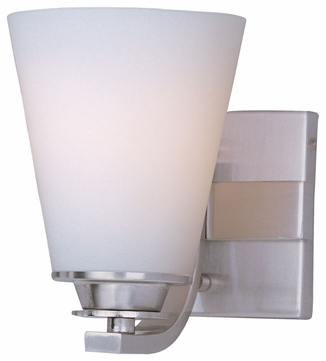 Maxim 9011SWSN Conical Satin Nickel Modern Wall Sconce Light