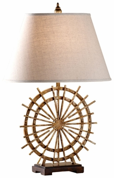 Feiss 10118PCI-EBY Atticus Rustic Circular Table Lighting