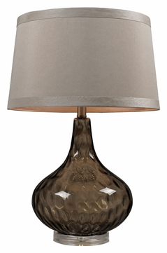 Dimond HGTV148 Dimpled Glass 24 Inch Tall Table Lamp