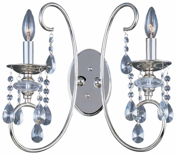 Maxim 24309CLPN Montgomery 3-light Traditional Crystal Candle Wall Sconce