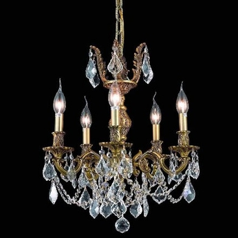 Elegant 9505D18FG-RC Marseille Small 18  French Gold Chandelier with Shade
