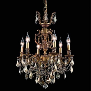 Elegant 9506D20FG-GT-RC Marseille 20  Golden Teak Crystal Chandelier in French Gold Finish