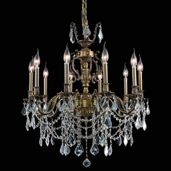 Elegant 9510D28AB-RC Marseille 10-light 28  Antique Bronze Chandelier Lighting