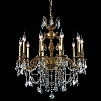 Elegant 9510D28FG-RC Marseille 28  French Gold Medium Crystal Accent Chandelier Light