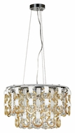 Trans Globe MDN-1173 CHMP Small 18 Inch Wide Hanging Pendant Light - Modern