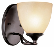 Trans Globe 70371 ROB Rubbed Oil Bronze 7 Inch Tall Wall Light Fixture