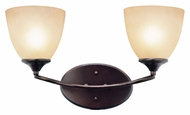Trans Globe 70372 ROB 16 Inch Wide Rubbed Oil Bronze Bathroom Lighting