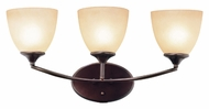 Trans Globe 70373 ROB Transitional 22 Inch Wide Bronze Vanity Light Fixture