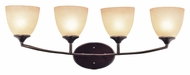 Trans Globe 70374 ROB 4 Lamp Rubbed Oil Bronze Vanity Lighting For Bathroom