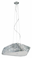 Trans Globe MDN-1160 Small 21 Inch Wide Polished Chrome Hanging Light Fixture