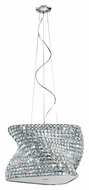 Trans Globe MDN-1162 Large Polished Chrome Pendant Hanging Lamp - 24 Inches Tall