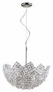 Trans Globe MDN-1137 Large 20 Inch Diameter Drop Ceiling Light Fixture - Crystal