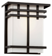Trans Globe 40202 BK Small Square Craftsman 8 Inch Tall Black Exterior Sconce