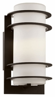 Trans Globe 40204 BK Small Black 11 Inch Tall Craftsman Lighting Sconce - Outdoor