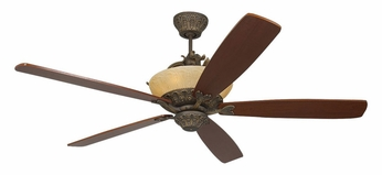 Monte Carlo Fans 5RDRRB Royal Danube Roman Bronze Finish Traditional Ceiling Fan With Blade Options