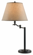 Cal BO-2350TB-DB Dana Swing Arm 28 Inch Tall Dark Bronze Lighting Table Lamp - Transitional