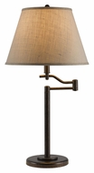 Cal BO-2350TB-RU Dana Rust Finish Transitional 28 Inch Tall Table Lamp - Swing Arm