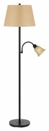 Cal BO-2391FL-DB Dark Bronze Transitional Floor Lamp With Reading Light - 62 Inches Tall