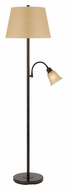 Cal BO-2391FL-RU Transitional 62 Inch Tall Rust Finish Floor Lamp With Reading Light