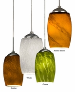 AFX KEPL45027 Mini 3 Inch Diameter Colored Glass Mini Pendant Light - LED