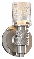 Kalco 6271 Ashington Polished Nickel Finish 8 Inch Tall Transitional Wall Light Fixture