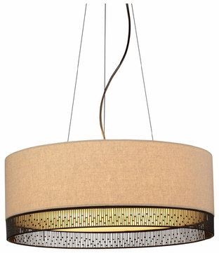 LBL Hollywood Beach Fabric Drum Drop Lighting Fixture