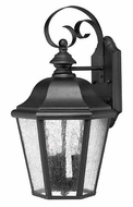 Hinkley 1676BK Edgewater Medium 17 Inch Tall Traditional Outdoor Wall Lighting - Black