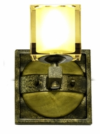 Kalco 2931 Swindon Florence Gold Finish 8 Inch Tall Wall Light Fixture