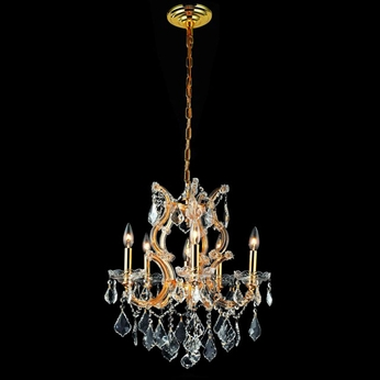 Elegant 2800D20G-RC Maria Theresa Traditional Gold 25  Tall Crystal Chandelier Lamp