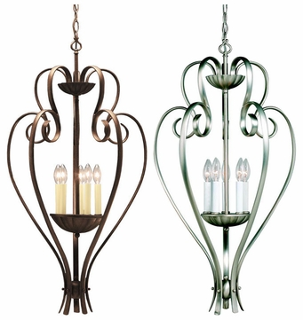 Kichler 2529 Willowmore 5 Light 35 Inch Tall Foyer Light Fixture