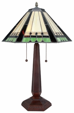 Lite Source LSCF41239 Garrison Contemporary Fluorescent Tiffany Table Lamping