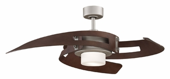 Fanimation Fans FP6210SN Avaston Damp-Rated Satin Nickel 52 Inch Sweep Modern Ceiling Fan Lighting