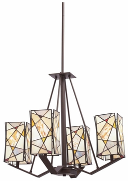 Kichler 66059 Shazam Bronze 25 Inch Diameter Tiffany Chandelier Lighting