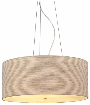 LBL Fiona Grande Fabric Shaded Contemporary Drum Hanging Pendant Light