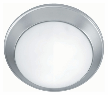 Lite Source LS5312SS Glow Pan Satin Steel Flush Mount Ceiling Light Fixture