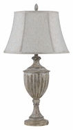 Cal BO-2430TB 23 Inch Tall Drifted Wood Traditional Table Top Lamp