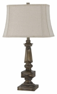 Cal BO-2431TB Drifted Wood Finish 30 Inch Tall Traditional Bed Lamp