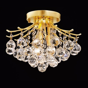 Elegant 8000F12G-RC Toureg 12  Tall Small Crystal Ceiling Lighting - Gold