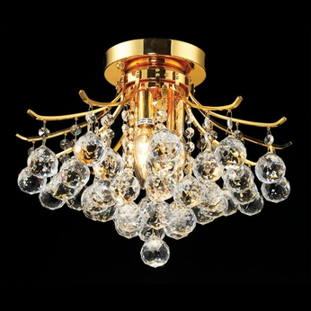 Elegant 8000F16G-RC Toureg Gold Medium Crystal Semi Flush Mount Light Fixture