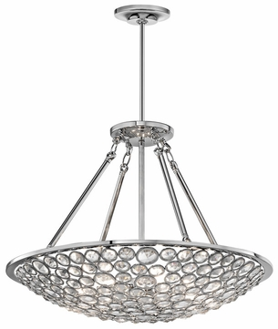 Kichler 42668CH Liscomb Large 6-light Convertible Pendant/Semi Flush Mount Ceiling Lighting